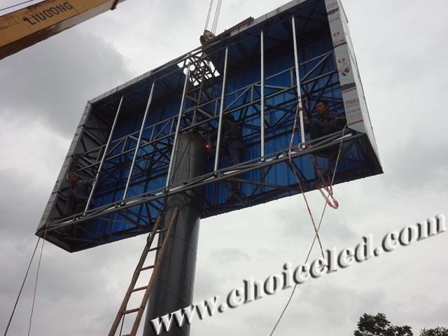 户外led显示屏立柱结构施工流程